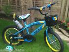 "BLUE KIDS BIKE WITH STABILISER GIRL'S/ BOYS BIKES IN SIZE 14"" 16"" NEW UK STOCK"