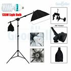 Photo Studio Continuous Softbox Lighting Boom Video Soft Box Light Stand Kit