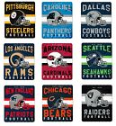 NFL Teams Singular Design Large Soft Fleece Throw Blanket 50 X 60