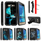 For Samsung Galaxy Amp Prime Holster Clip Stand Case Demon Cyborg