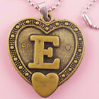 P089 Acrylic pendant iron or Stainless Steel chain U pick Letter E love heart