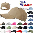 Plain Solid Washed Cotton Cap Baseball Ball Caps Strap Adjustable Hat Casual New