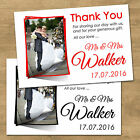 1-100 Personalised Wedding Thank You Cards With Envelopes & Your Photo (T9P)