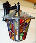 CHEPSTOW Lantern Stained Glass Multi-Coloured Handmade Leaded light  OUTDOOR