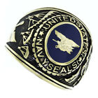 US Navy Seals Military Gold EP Plated Mens Ring