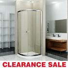 New Quadrant Shower Enclosure Stone Tray Glass Door Corner Cubicle 800 900