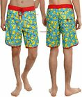 "POKEMON ""PIKACHU"" PRINT SWIM TRUNKS / BOARD SHORTS FOR MEN ~NINTENDO~ FREE SHIP"