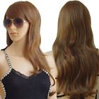 Women Girl's Anime Cosply Party long Curly Wavy Full Wig Hair Punk Retro Show US