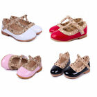 Princess Girls Fashion.Chic Sandals Rivet Buckle T-strap Flat Shoes Gift
