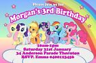 Girls Personalised Birthday Party Invitations My Little Pony Print - Any Name