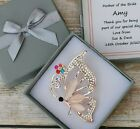 PERSONALISED MOTHER OF THE BRIDE GROOM THANK YOU GIFT KEEPSAKE BROOCH BUTTERFLY
