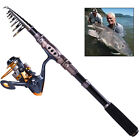Travel Fishing Rod with Reel Combos Set Portable Spinning Fishing Pole Reel Kits