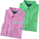 New Polo Ralph Lauren Pony Custom Gingham Check Button Shirt L XL 2XL