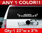"ARIZONA CARDINALS REAR BANNER  DECAL STICKER 23""w x 3""h ANY 1 COLOR $9.99 USD on eBay"