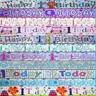 1st Birthday Party Banners Boy & Girl Party Decorations - Age 1 Birthday Banners