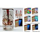 For Samsung Galaxy S6 edge+ S5 S6 S7 edge - Spill Coffee Print Wallet Phone Case