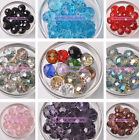 10Pcs 10/12/14/16/18mm Rondelle Charms Faceted Crystal Glass Loose Spacer Beads