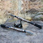 Telescopic Carbon Fishing Combos Fishing Rod with Reel Fishing Tackle (1 Set)