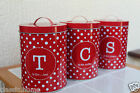 polka dot storage jars