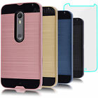 Shockproof Case Cover + Tempered Glass for Motorola Moto X Pure Edition /X Style