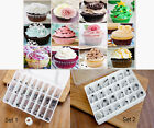 24 Pastry Tips Set Icing Piping Nozzle Cake Sugarcraft Cream Baking Decorating