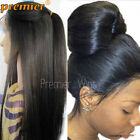 "Silk Top  Full/Front Lace Wigs Light Yaki Straight Human Hair lace Wigs 4"" × 4"""