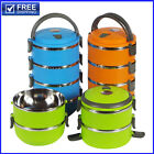 1-4 Layers Stainless Steel Lunch Box Container Thermos Food Jar Vacuum Insulated
