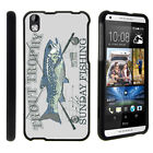 For HTC Desire 816 Case Hard Snap On 2 Piece Slim Shell Outdoor Fishing