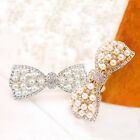1Pc Jewelry Women Girl Crystal Pearl Rhinestone Bow Twinkling Hair Clip Hairpins