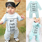 Newborn Toddler Baby Girls Boy Clothes Casual Romper Jumpsuit Bodysuit 0-24M