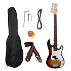 NEW Full Size 4 Strings Electric Bass Guitar +AMP Cord+Gigbag New OY