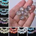 14mm 18mm Round Coin Faceted Frosted Crystal Glass Spacer Loose Beads Findings