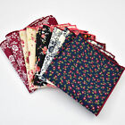 Внешний вид - Men Pocket Square Handkerchief Cotton Paisley Floral Hanky Wedding Party Lot