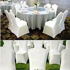 White/Black New Polyester Spandex Chair Cover Arched/Flat Front Covers 50/100pcs