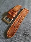 Handmade Vintage Brown Leather Strap Band for big watch.