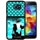 PERSONALIZED RUBBER CASE FOR SAMSUNG S4 S5 S6 S7 EDGE PLUS MERMAID BEACH BLUE