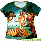 BOTTICELLI Birth of Venus Goddess Greek TEE T SHIRT TOP FINE ART PRINT PAINTING