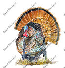 Wild Turkey Bird Sticker Decal Home Office Dorm Wall Exclusive Art Tablet Cell