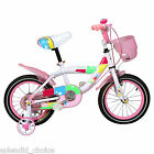 "KIDS BIKE WITH STABILIZER PINK GIRL'S BIKES IN SIZE  14"" 16"" NEW UK STOCK"