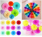 Tissue Paper Cut-Out Fan Wedding Birthday Party Garland Decoration Baby Shower