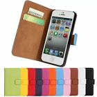 New Luxury Flip Stand Leather Wallet Card Case Cover for Apple iPhone Series