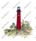 Jupiter Inlet Lighthouse Sticker Decal Glass Window Camper Mirror RV ATV Bike