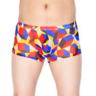 Men's Colorful Sheer Mesh Boxers Underwear Pouch Trunks Male Shorts Briefs