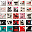 "18""Pop Art Love Cotton Linen Pillow Case Sofa Cushion Cover Fashion Home Decor"