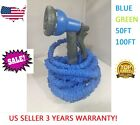 Expandable Flexible Magic Hose 50/100FT Water Pipe Spray Nozzle TV Deluxe garden