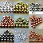Bronze Gold & SILVER PLATED Metal Round SPACER BEADS 2.5mm 3.0mm 4mm 5mm 6mm 8mm