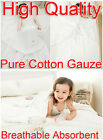 Baby White 95x95cm Pure Cotton Gauze Bath Towel Breathable Absorbent Washable