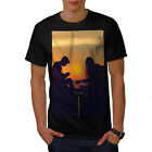 Sunset Music Acoustic Guitar Men T-shirt S-5XL NEW | Wellcoda