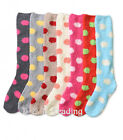 4,12pair Women's Fuzzy Knee High Bright Dots Slippers Lot Warm Girl Cozy Winter