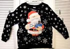 SANTA CLAUS MISFIT BLUE TRAIN RUDOLPH CHRISTMAS  PULLOVER JUNIORS XL, XXL NEW!